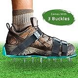 Rasenbelüfter Spike Schuhe-Für effektiv Rasen erdelüftung-wird mit 3verstellbare Gurte mit Metallschnallen-Universal Größe, passt alle-Für einen Grüneren und gesünder Garten oder Hof.