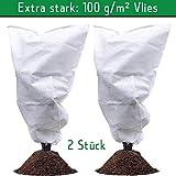 havalime Pflanzen Frostschutzvlies, Winterschutzhülle, Stark, 100 g/m2, Weiß (2 Stück 1.8m x 1.2m)