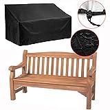 Silvotek 4-Sitzer schutzhülle für Bank - Wasserdicht gartenbank Abdeckung mit langlebigem 210D Oxford Material+ PVC-Beschichtung,- schutzhülle gartenbank abdeckhaube gartenbank - 190x66x89cm
