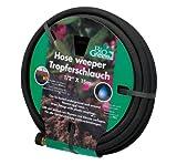 Bio Green Bewässerung Tropferschlauch, Perlschlauch, schwarz, 15m, Wassererspanis bis zu 70 %, für Bewässerung von Pflanzenreihen und Beeten