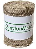 GardenMate Jute-Wickelstreifen 25m x 15cm - Jutegewebe Juteband 200gsm