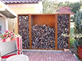 Kaminholzregal Metall aus Cortenstahl Edelrost