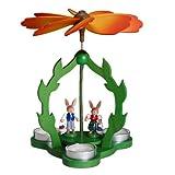 Rudolphs Schatzkiste Tischpyramide Hasenkinderpaar HxLxB 22x16x16cm NEU Holzpyramide Dekoration Osterhase Ostern Frühling Holz Deko Seiffen Erzgebirge