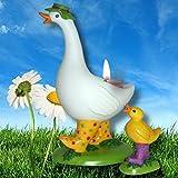 1a PartyLite Frühlingsimpressionen Mutter Gans mit Küken --- handbemaltes Porzellan --- H18cm