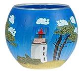 HIM Teelichthalter Leuchtturm, Mehrfarbig, 11 x 11 x 9 cm