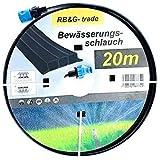 Beregnungsschlauch Bewässerungsschlauch / Sprühschlauch 20m schwarz inkl. Anschlüsse / sofort Startklar