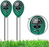 Bodentester, Boden Feuchtigkeit Meter, 3-in-1 Pflanze Tester für Bodenmessgerät Feuchtigkeitsmesser/Sonnenlicht/Boden pH Tester für Garten, Bauernhof, Rasen (kein Batterien erforderlich)