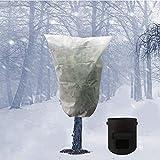 Ubrand Winterschutz Kübelpflanzensack Pflanzenschutzsack, Frostschutzhülle, Schutzhülle für Pflanzen mit Kordelzug, kalte und frostsichere Schutzhülle für Pflanzen. 80 x 100 cm