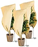 Royal Gardineer Kübelpflanzensäcke: 3er-Set Pflanzenabdeckungen als Winterschutz, 100x80cm, 80 g/m² (Winterschutz für Pflanzen)