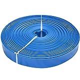 Dambat/IBO 50m 1 1/2' PVC Flachschlauch Wasserschlauch Flexibler Schlauch Pumpenschlauch