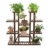 unho Pflanzenregal Holz, Extra Groß Blumenregal mit 11 Ebenen, Blumenständer Garten, Pflanzentreppen mehrstöckig,115×25×116cm