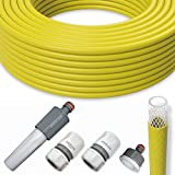 All4You Gartenschlauch Wasserschlauch Schlauch Set 1/2' Zoll 50m mit Armaturen Gelb