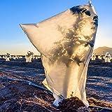 GARDENIX® Pflanzenschutz Winter Kübelpflanzensack, Frostschutz Schutzhaube, Winterschutz, mit Reißverschluss und Zugband 100x140 cm
