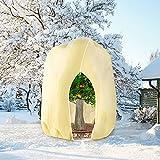 HERILIOS Winterschutz für Pflanzen, Frostschutz Pflanzenabdeckungen als Winterschutz, mit Reißverschluss für Baum Palmen Balkonpflanzen haube Zelt Atmungsaktiv - Reißfest,250 x 360cm beige