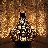 albena shop 71-5240 orientalisches Windlicht Laterne 30cm Metall (Jadoo 30cm Schwarz/inn Gold)